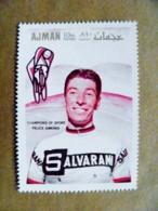 ERROR Proof Printing Missing Colors UAE AJMAN Sport Cycling Champions Of Sport Felice Gimondi Salvarini Bicycle - Adschman