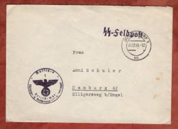 SS-Feldpost, Duesseldorf Nach Hamburg 1941 (80606) - Briefe U. Dokumente