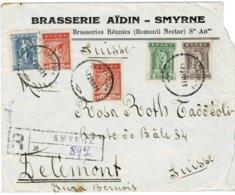 """1921 """" SMYRNA """"  - Registered Cover   A2422 - Grecia"""