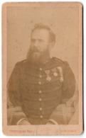 * - CDV - Officier Décoré De La Coloniale Vers 1880/1890 - Légion D''honneur Et Autres. Photographe Terpereau à Bordeaux - Oorlog, Militair