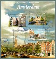 France Oblitération Cachet à Date BF N° F 5090 - Capitale Européenne -> Amsterdam Au Pays_Bas - Canaux, Béguinage, Etc - Sheetlets