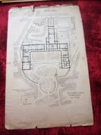 1871 PLAN TECHNIQUE DRESSÉ ARCHITECTE DE FOUCAULT DES HOSPICES HÔPITAL HOTEL DIEU MARSEILLE Planche Travaux Public - Obras Públicas