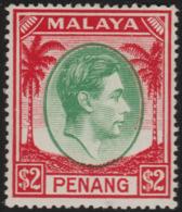 ~~~ Malaya Penang 1949 - Definitives $2 Key Value -  SG. 21 ** MNH OG - £23 ~~~ - Penang