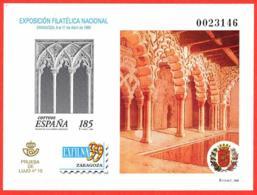 España. Spain. 1999. PO. EXFILNA '99. Zaragoza - Exposiciones Filatélicas