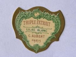 Etiquette De Parfum - AUBERT PARIS - Triple Extrait - Lilas Blanc - Labels