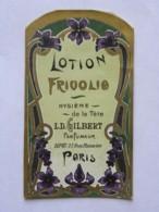 Etiquette De Parfum - LD GILBERT Parfumeur - Lotion Frivolie - Hygiène De La Tête - Labels