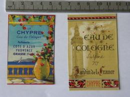 Etiquette De Parfum - CHYPRE - Eau De Cologne - Lot De 2 étiquettes - Labels
