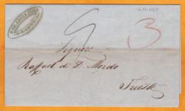 1857 - Lettre Pliée Avec Corresp En Italien De Zante Zakynthos, Grèce Occup GB Vers Trieste, Autriche Italie - ...-1861 Prephilately