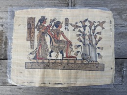 PAPYRUS EGYPT- - Representation Antique Scenes - Art Africain