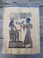 PAPYRUS EGYPT- - Representation Antique Scenes - African Art