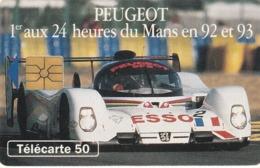 FRANCIA. Peugeot 905 1 - Voiture De Jour. With 2nd Logo Moreno. 50U. 0393. 07/93. (206). - Sport