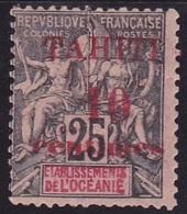 Tahiti N° 31 Neuf * - Voir Verso & Descriptif - Tahiti (1882-1915)
