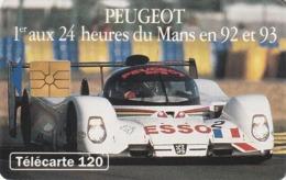 FRANCIA. Peugeot 905 1 - Voiture De Jour. 120U. 0394.1. 07/93. (207). - Sport