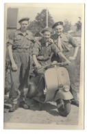 Soldats Armée Belge Moto Vespa Photo Carte - Oorlog, Militair
