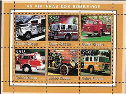 Guinée Bissau 2001 Pompiers Fire Men   MNH - Firemen