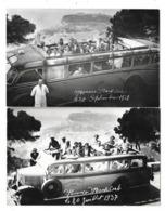 MONACO MONTE CARLO 2 Cartes Photos Autobus Gros Plans Animations - Monaco
