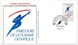 FRANC - 13 Enveloppes FDC - JEUX OLYMPIQUES D'HIVER - ALBERTVILLE - 1990/91 - Winter (Other)