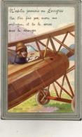 CPA - LANGRES (52) - Carte à Système Avec Fenêtre Dans La Carlingue D'un Avion Contenant 10 Images - Langres