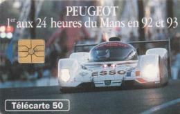 FRANCIA. Peugeot 905 2 - Voiture De Nuit. 50U. With 2nd Logo Moreno. 0395. 07/93. (202). - Sport