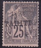 Tahiti N° 27 Neuf *. - Voir Verso & Descriptif - Tahiti (1882-1915)