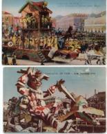 NICE - 2 CPA - Carnaval - Char S.M Carnaval LIII - Char Exprss Déménagement ..    (117314) - Carnival