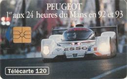 FRANCIA. Peugeot 905 2 - Voiture De Nuit. 120U. With 2nd Logo Moreno. 0396. 07/93. (203). - Sport