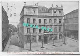 Portugal -  Lisboa - Sede Da Companhia De Seguros A MUNDIAL - Rua Garrett 95  ( Escrito Em 1920) - Publicidad