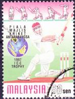 Malaysia -6. Internationales Kricketturnier Um Die ICC-Trophy (MiNr: 636 A) 1997 - Gest Used Obl - Maleisië (1964-...)