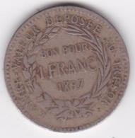 COLONIE DE LA MARTINIQUE. BON POUR 1 FRANC 1897. - Colonies