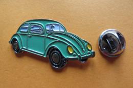 Pin's,voiture,Auto,VW Coccinelle,Volkswagen,Käfer,vert - Volkswagen