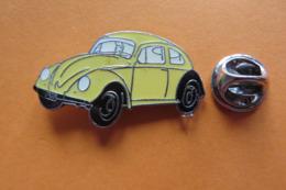 Pin's,voiture,Auto,VW Coccinelle,Volkswagen,Käfer,jaune - Volkswagen