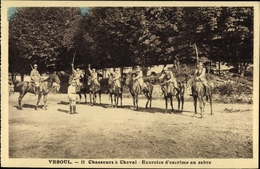 Cp Vesoul Haute Saone Frankreich, 11e Chasseurs à Cheval, Exercice D'escrime Au Sabre - Militaria