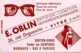 Buvard Oblin Opticien Lunetier 26 R Duguesclin Vitré (35) - Blotters