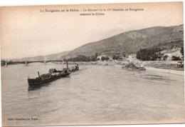 Le Missouri De La Compagnie Générale De Navigation Remonte Le Rhône - édit Giraudon La Voulte - Péniche - La Voulte-sur-Rhône