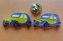 2 Pin's,voiture,CITROËN,DEUX CHEVAUX, 2CV,Auto - Citroën