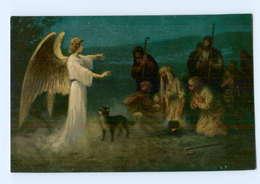 Y8967/ Die Geburt Jesu  Engel - Die Heilige Schrift - AK Ca.1912 - Godsdiensten & Geloof
