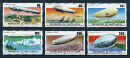 HAUTE-VOLTA - ZEPPELINS - N° 385 A 387 ET PA 205 A 207 - NEUF** - Zeppelins