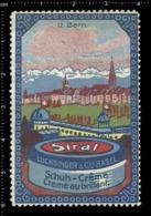 Old Swiss Poster Stamp Cinderella Vignette Erinoffilo Reklamemarke Switzerland Shoes Schuhe Chaussures Creme Siral Bern. - Vignetten (Erinnophilie)