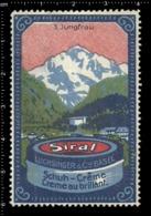 Swiss Poster Stamp Cinderella Vignette Erinoffilo Reklamemarke Switzerland Shoes Schuhe Chaussures Creme Siral Jungfrau. - Vignetten (Erinnophilie)