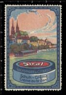 Swiss Poster Stamp Cinderella Vignette Erinoffilo Reklamemarke Switzerland Shoes Schuhe Chaussures Creme Siral Basel. - Vignetten (Erinnophilie)