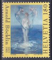 Schweiz Switzerland Helvetia 2001 Kunst Arts Kultur Culture Gemälde Paintings Arnold Böcklin Venus, Mi. 1766 ** - Ungebraucht