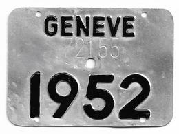 Velonummer Genf Genève GE 52 - Number Plates