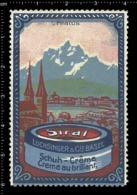 Swiss Poster Stamp Cinderella Vignette Erinoffilo Reklamemarke Switzerland Shoes Schuhe Chaussures Creme Siral Pilatus. - Vignetten (Erinnophilie)