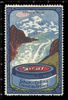 Swiss Poster Stamp Cinderella Vignette Erinoffilo Reklamemarke Switzerland Shoes Schuhe Chaussures Creme Monte Rosa. - Vignetten (Erinnophilie)