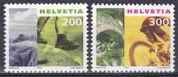 Schweiz Switzerland Helvetia 2000 Tourismus Tourism Wandern Hiking Grimsel Radfahren Bicycling Biasca, Mi. 1744-5 ** - Ungebraucht