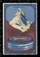 Swiss Poster Stamp Cinderella Vignette Erinoffilo Reklamemarke Switzerland Shoes Schuhe Chaussures Creme Matterhorn. - Vignetten (Erinnophilie)