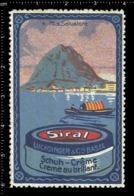 Swiss Poster Stamp Cinderella Vignette Erinoffilo Reklamemarke Switzerland Shoes Schuhe Chaussures Creme Siral Salvatore - Vignetten (Erinnophilie)