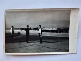 REAL PHOTO.NO COPY. Yugoslav National Army General With Troops At Belgrade Airport - Oorlog, Militair