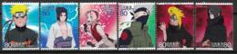 2009 Japan Mi. 5073-82 Used  Zeichentrickfilme : Naruto - 1989-... Keizer Akihito (Heisei-tijdperk)
