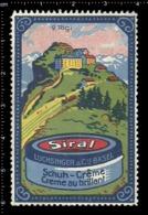 Swiss Poster Stamp Cinderella Vignette Erinoffilo Reklamemarke Switzerland Shoes Schuhe Chaussures Creme Siral Rigi. - Vignetten (Erinnophilie)